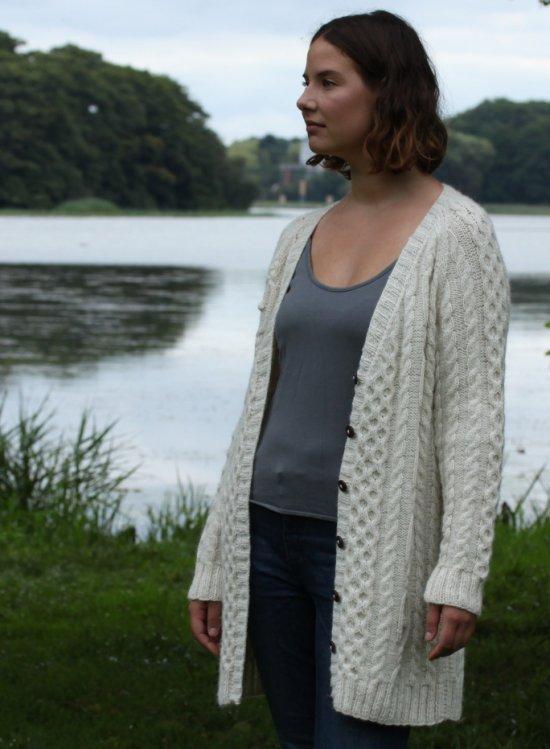 strikket sweater opskrift dame